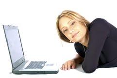 Praticare il surfing il Web Fotografie Stock