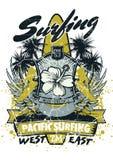 Praticare il surfing pacifico Immagini Stock