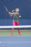 Pratiche professionali di Eugenie Bouchard del tennis per l'US Open 2014 Fotografia Stock