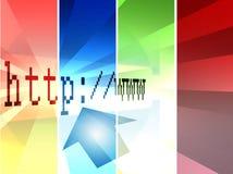 Pratichi il surfing il Mondo-HTTP Fotografia Stock Libera da Diritti