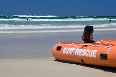 Pratichi il surfing il salvataggio Fotografia Stock Libera da Diritti