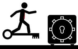 Pratichi il surfing la chiave Immagine Stock Libera da Diritti