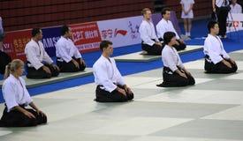 Praticiens d'Aikido Images stock