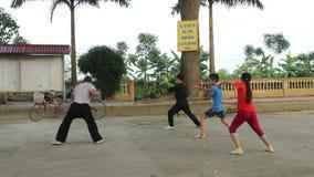 Praticiens d'arts martiaux, formation d'arts martiaux clips vidéos