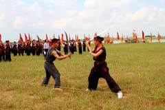 Praticiens d'arts martiaux par Image stock