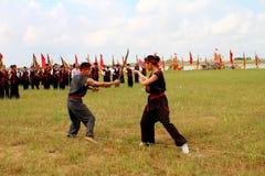 Praticiens d'arts martiaux par Photos stock