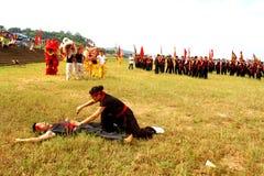 Praticiens d'arts martiaux par Image libre de droits