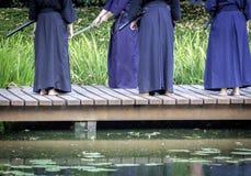 Praticiens de Kendo Photographie stock libre de droits