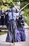 Praticiens de Kendo Images stock