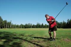 Praticing golf Royalty Free Stock Image