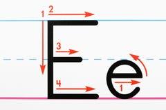 Pratique en matière d'écriture. Image stock