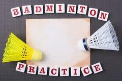 Pratique en matière de badminton Photo libre de droits