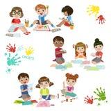 Pratique en matière de créativité d'enfants illustration libre de droits