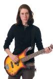 Pratique en matière de guitare basse Images libres de droits