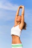 Pratique en matière de yoga Image libre de droits