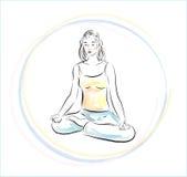 Pratique en matière de yoga Photos libres de droits