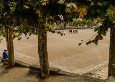 Pratique en matière du football à Vigo - en Espagne photo libre de droits