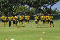 Pratique en matière d'équipe de Bafana Bafana Images libres de droits