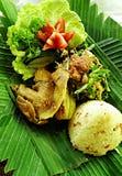Prato étnico do pato do Balinese fotografia de stock