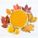 Prato americano tradicional para o dia da ação de graças no tempo do outono Fotografia de Stock Royalty Free