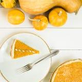 Prato americano tradicional para o dia da ação de graças no tempo do outono Imagens de Stock