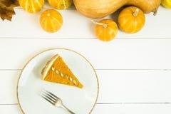 Prato americano tradicional para o dia da ação de graças no tempo do outono Fotografia de Stock
