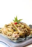 Prato asiático do estilo com vegetais e peixes de atum Fotos de Stock Royalty Free