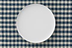 Prato branco Fotografia de Stock