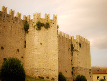 Prato castle side view Royalty Free Stock Photos