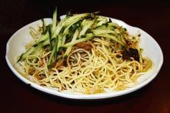Prato chinês do macarronete Foto de Stock