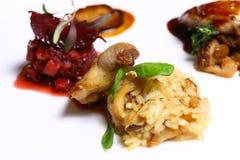 Prato com carne e souse foto de stock royalty free