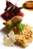 Prato com carne e souse Fotografia de Stock