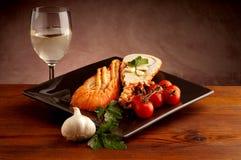 Prato com lagosta cortada Imagem de Stock Royalty Free