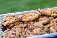 Prato com mini pizza Fotografia de Stock