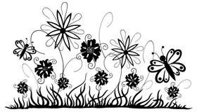 Prato con i fiori Immagini Stock Libere da Diritti