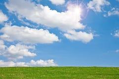 Prato con il cielo Fotografia Stock Libera da Diritti