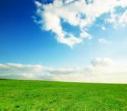 Prato con il cielo Fotografia Stock
