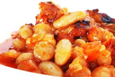 Prato cozido do feijão imagens de stock