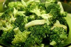 Prato cozinhado dos bróculos Imagem de Stock