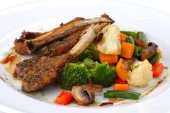 Prato da carne de carneiro, carne fotografia de stock
