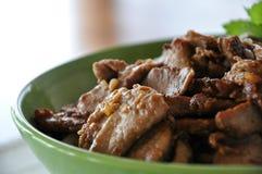 Prato da carne de porco Fotos de Stock Royalty Free