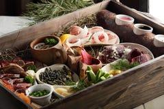 Prato da carne e do vegetal Foto de Stock