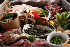 Prato da carne e do vegetal Fotografia de Stock