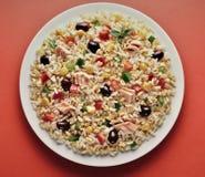 Prato da cevada e da salada soletrada do arroz Fotografia de Stock Royalty Free