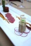 Prato da culinária da trilogia do atum Foto de Stock