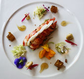 Prato da lagosta no restaurante francês gourmet Imagens de Stock