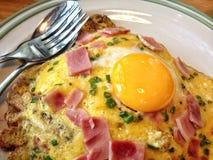 Prato da omeleta Imagens de Stock