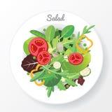 Prato da salada ilustração stock