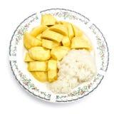 Prato 3 da sobremesa da manga e do arroz pegajoso Fotos de Stock