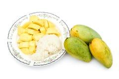 Prato 1 da sobremesa da manga e do arroz pegajoso Fotografia de Stock